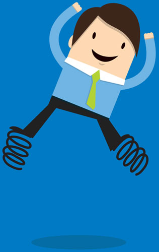 Illustration of MPower Direct New Hire Leaping for Joy